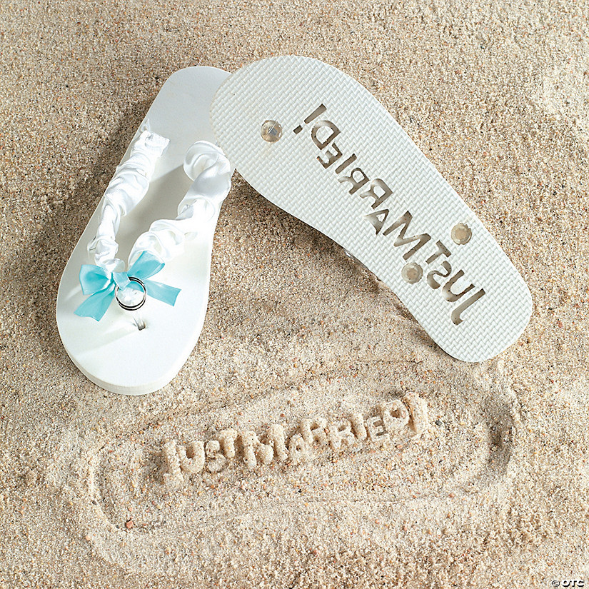 be635099ad68 Just Married! Wedding Flip Flops (7 8) - Discontinued