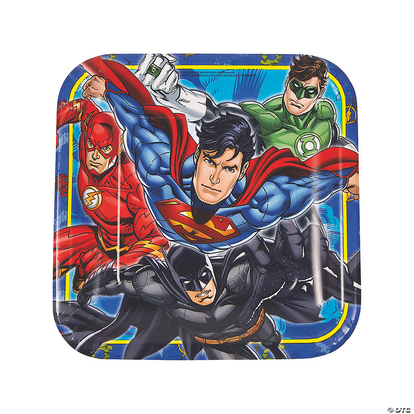 Justice League™ Paper Dinner Plates - 8 Ct. Audio Thumbnail