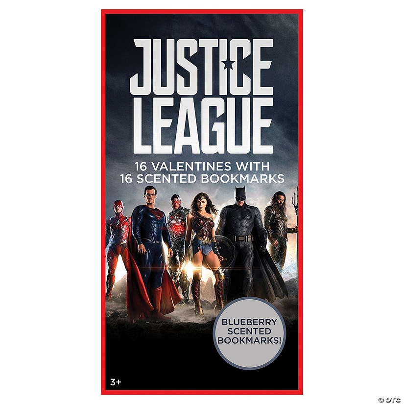Justice League<sup>&#8482;</sup> Valentines with Scented Bookmarks Image Thumbnail