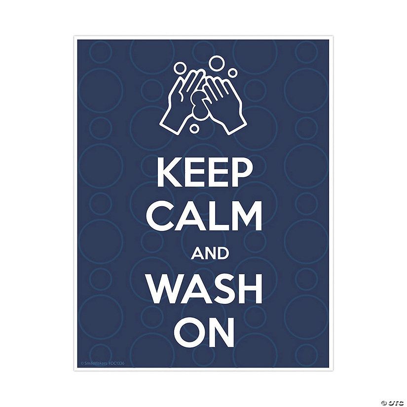 Keep Calm and Wash Your Hands Wall Decal Image Thumbnail