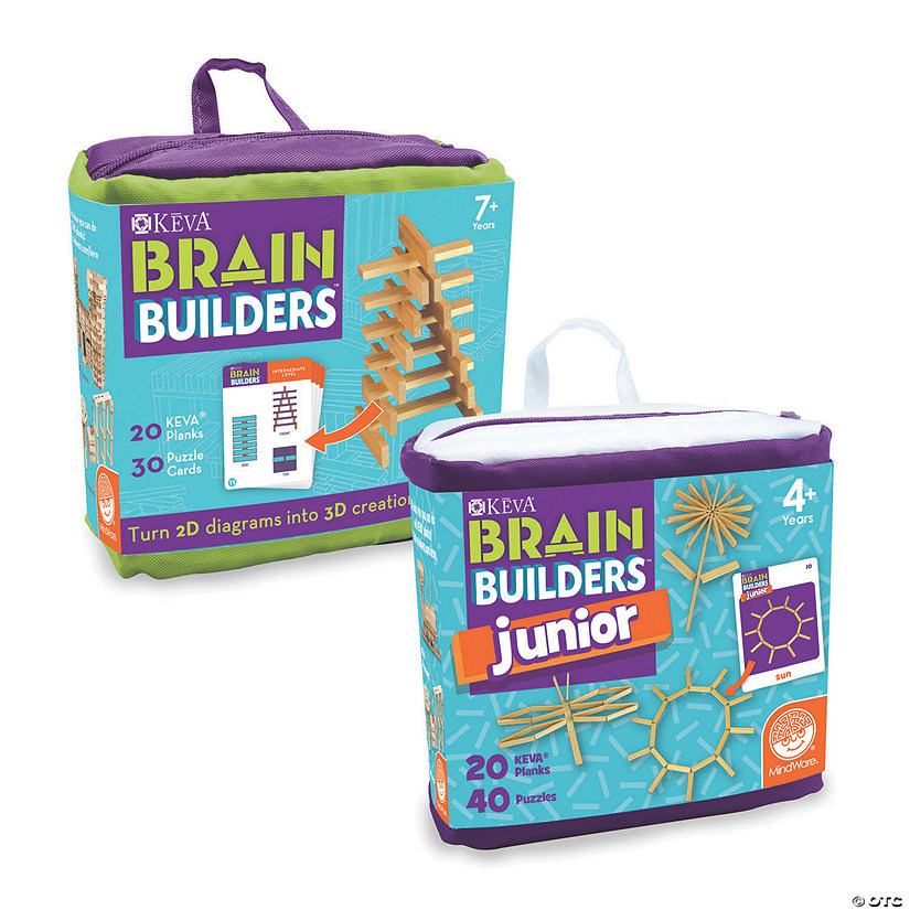 KEVA Brain Builders and Brain Builders Junior: Set of 2 Image Thumbnail