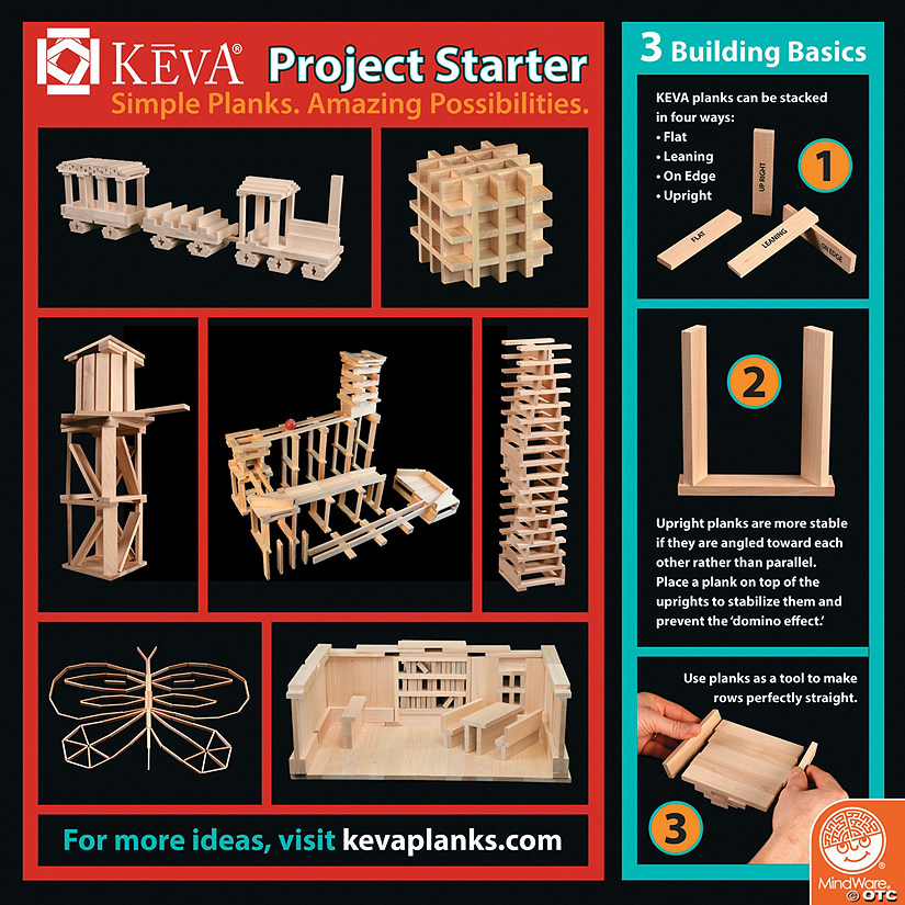 KEVA Building Idea Cards: Set of 4 Audio Thumbnail