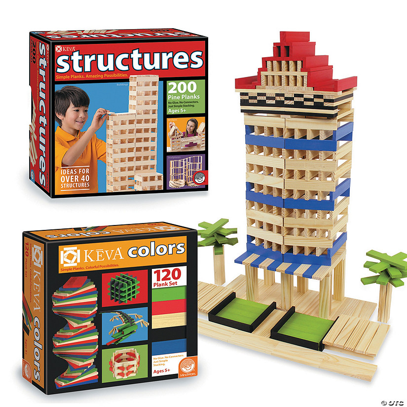 KEVA Structures and KEVA Colors: Set of 2