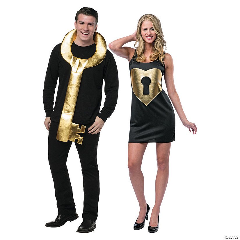 Key to My Heart Couples Costume for Adults