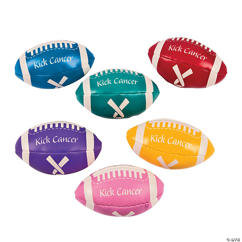 Kick Cancer Awareness Event Football Assortment Image Thumbnail