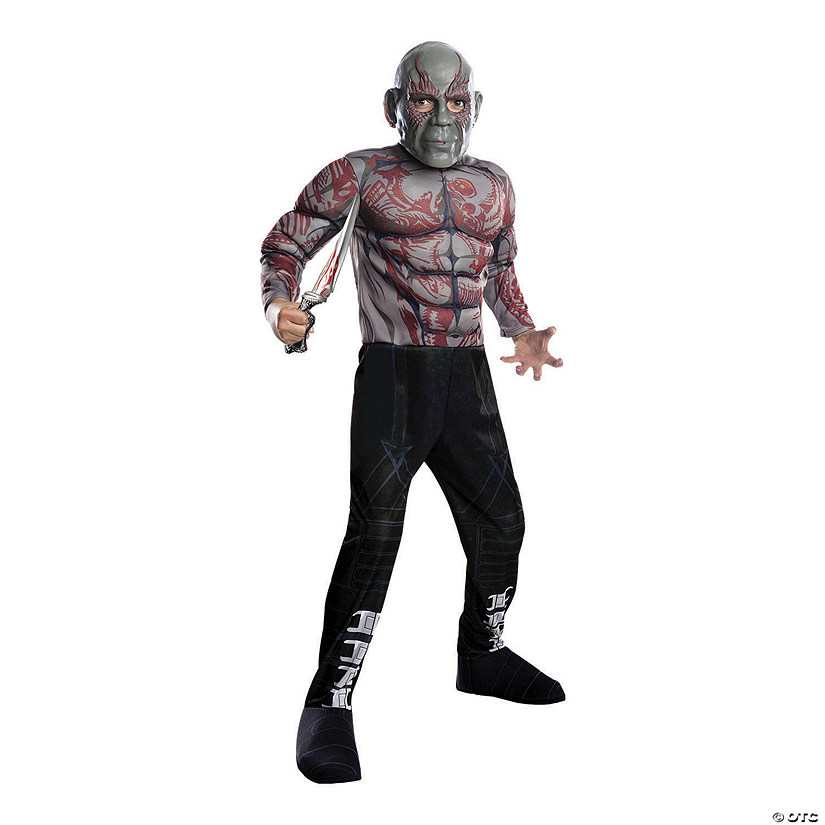 Kid's Deluxe Muscle Chest Drax Costume