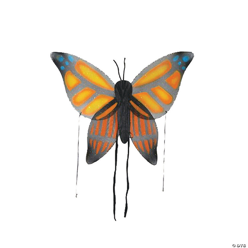 Kid's Orange Butterfly Wings