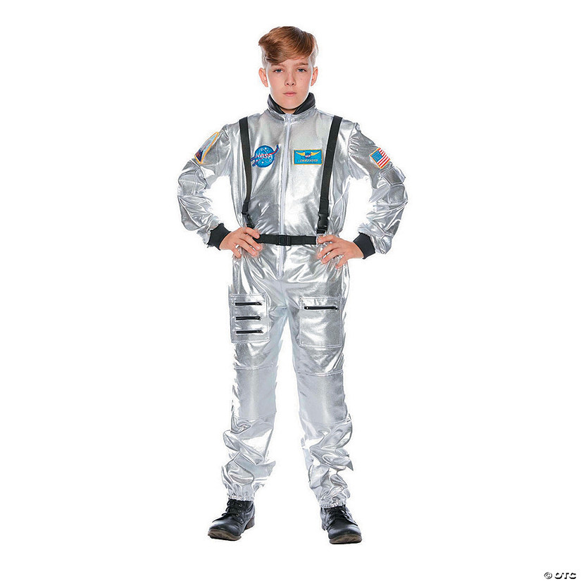 Kid's Silver Astronaut Halloween Costume Audio Thumbnail