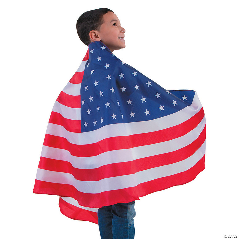 Kid's USA Flag Cape Audio Thumbnail
