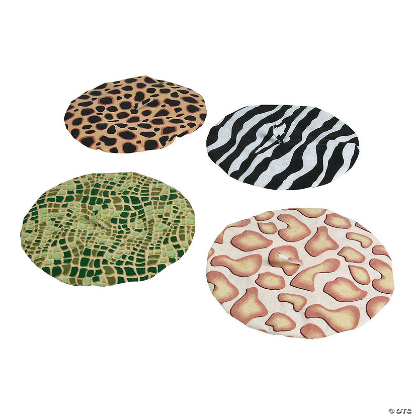 Kids' Animal Print Berets Assortment Audio Thumbnail