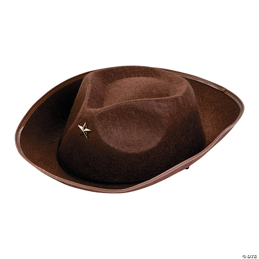 Kids' Brown Cowboy Hats Image Thumbnail