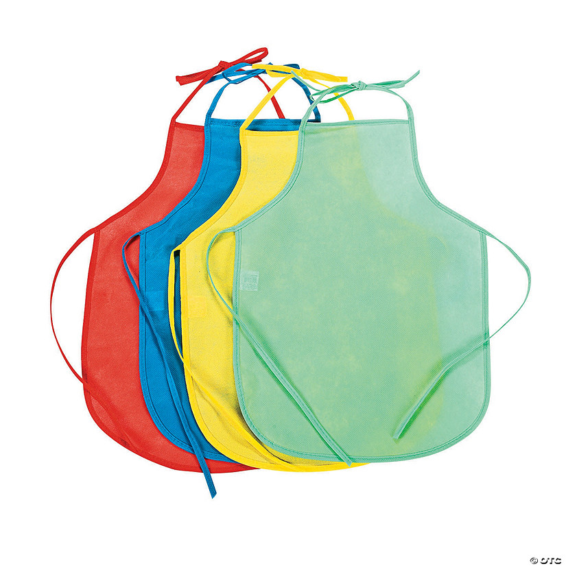 Kid's Colorful Laminated Aprons