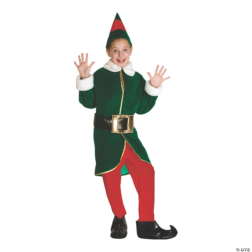 Christmas Elf Costume.Kid S Elf Costume Medium