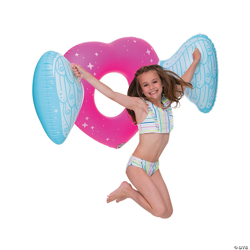 Kids&#8217; Inflatable BigMouth<sup>&#174; </sup>Heart Wings Float Audio Thumbnail