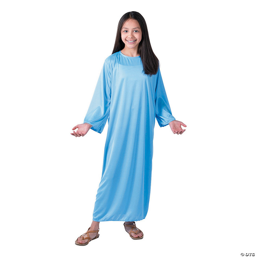 Kid's Light Blue Nativity Gown Image Thumbnail