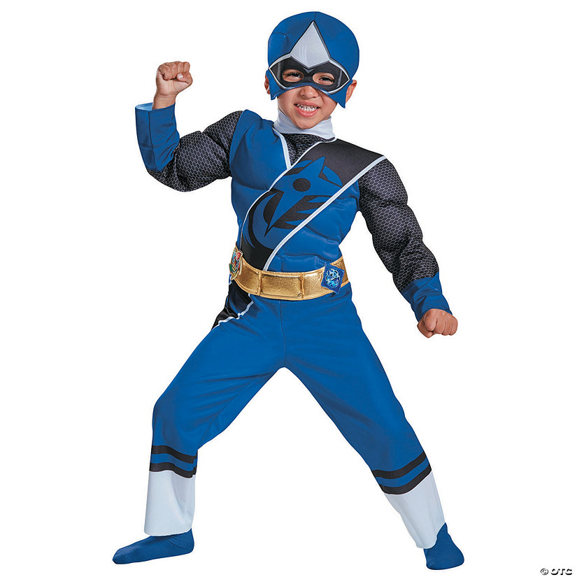 Kid's Muscle Ninja Steel Blue Ranger Costume - Small