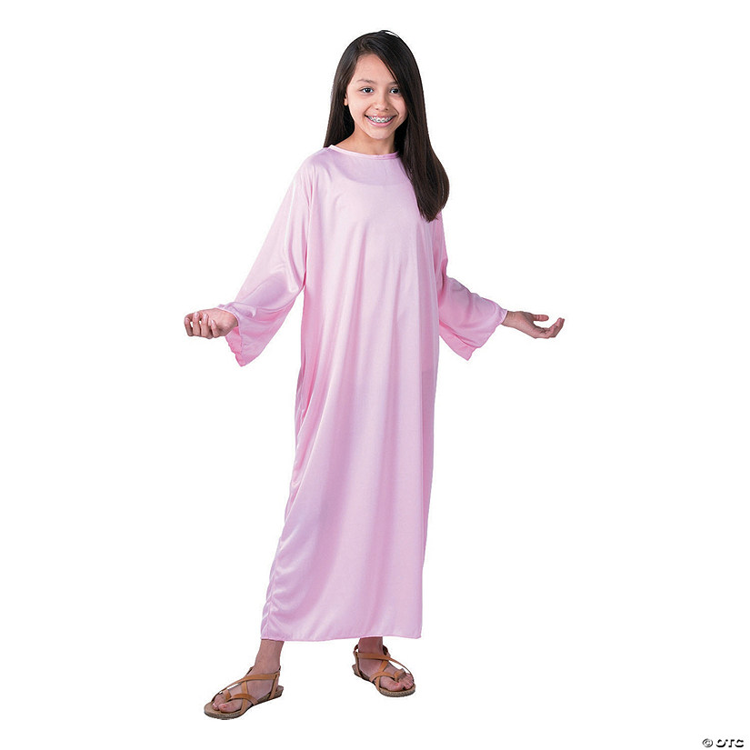 Kid's Pink Nativity Gown - Large Audio Thumbnail