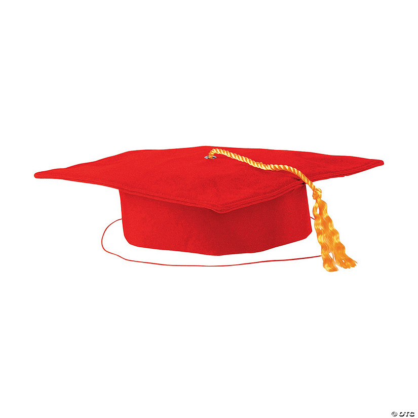 Kids' Red Matte Elementary School Graduation Mortarboard with Tassel Audio Thumbnail