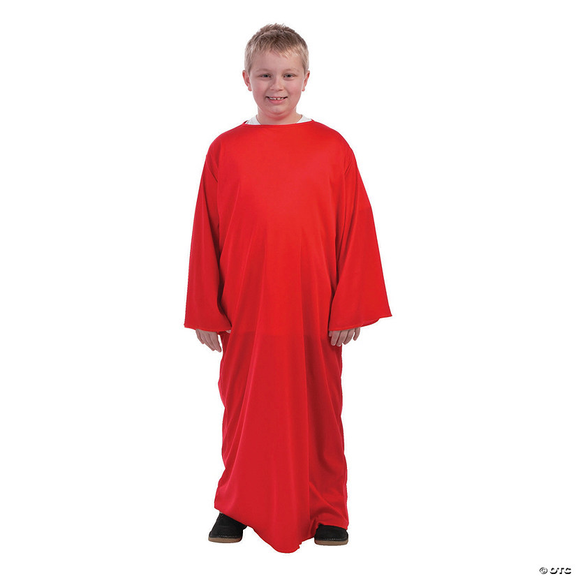 Kids' Red Nativity Gown - L/XL Audio Thumbnail