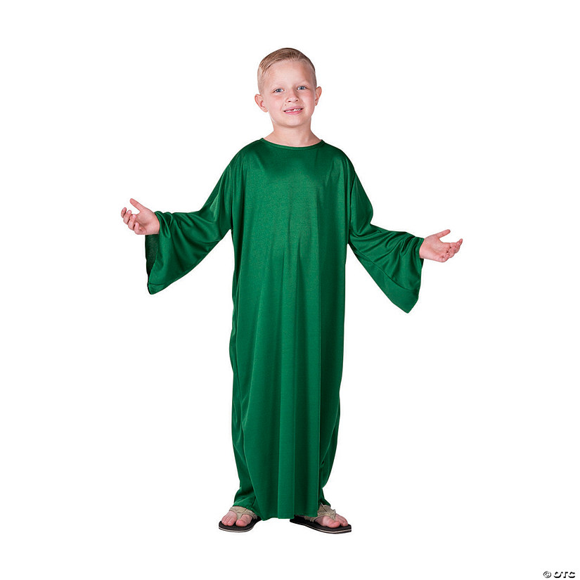 Kids' Small Green Nativity Gown Audio Thumbnail