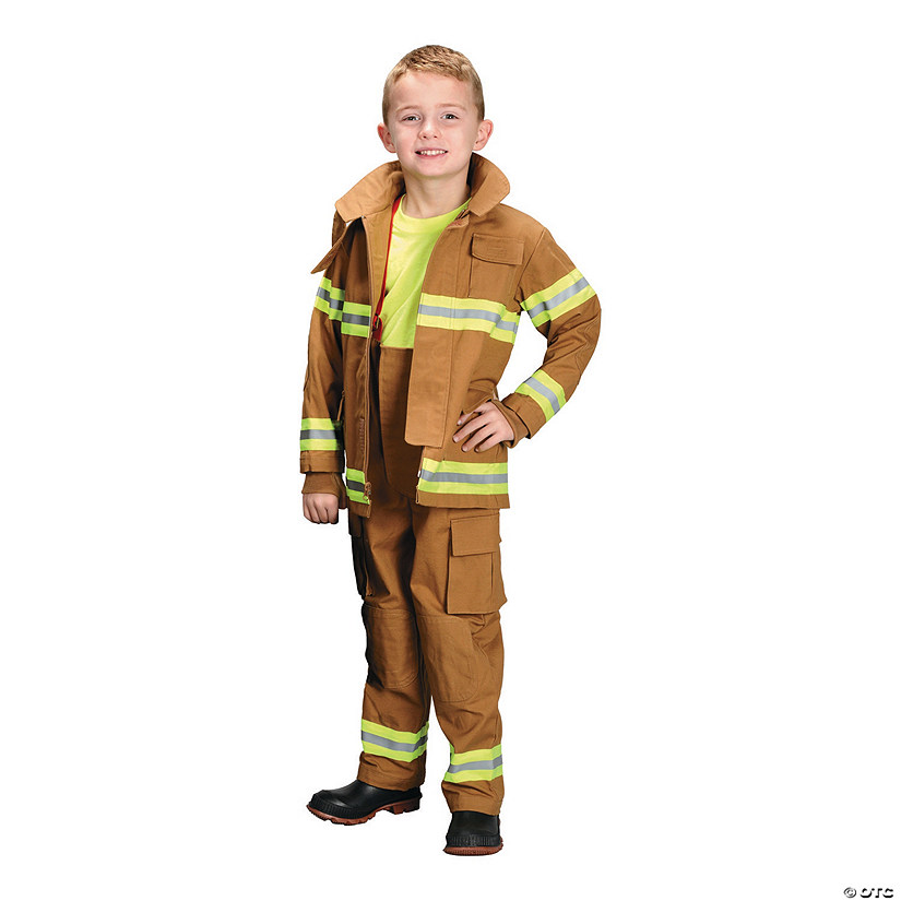 Kid's Tan Firefighter Costume Audio Thumbnail