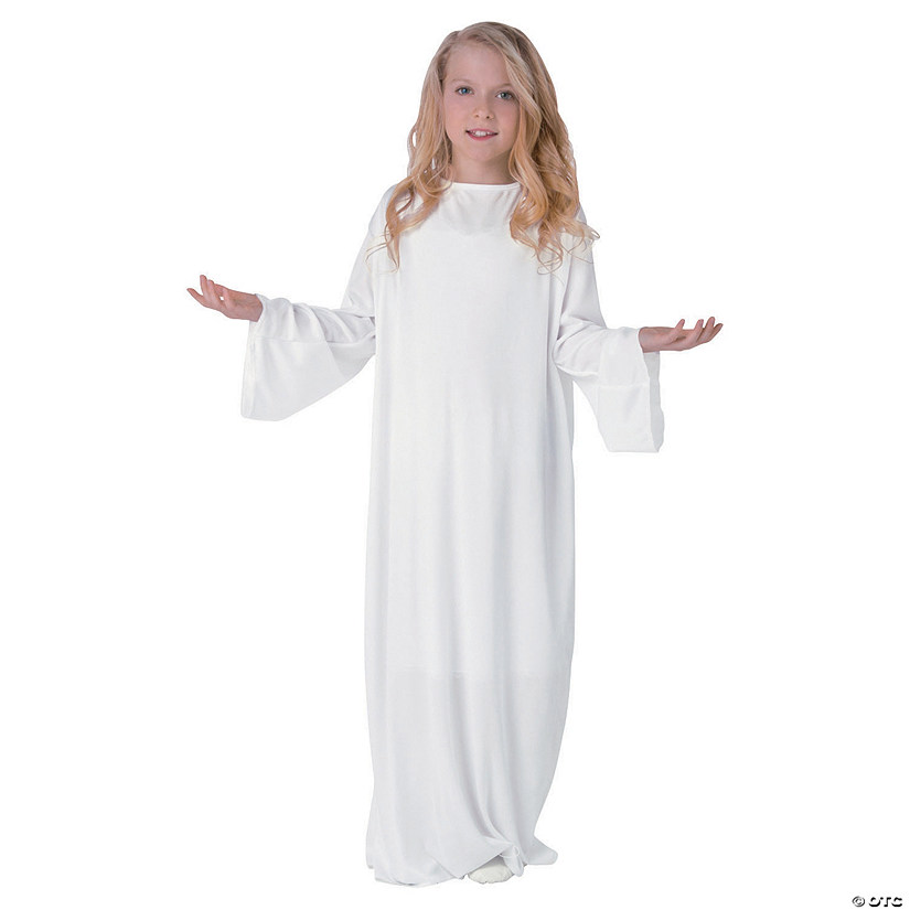 Kids' White Angel Gown - LG/XL Audio Thumbnail