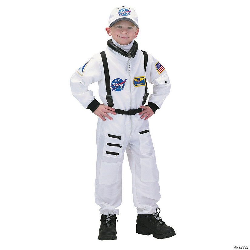 Kid's White Astronaut Suit Costume