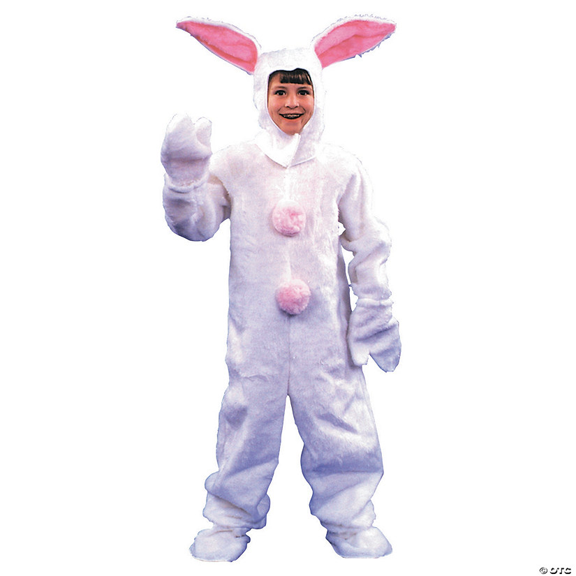 Kid's White Bunny Suit Costume - Small Audio Thumbnail