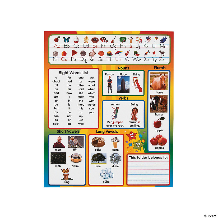 Kindergarten Common Core Pocket Folders