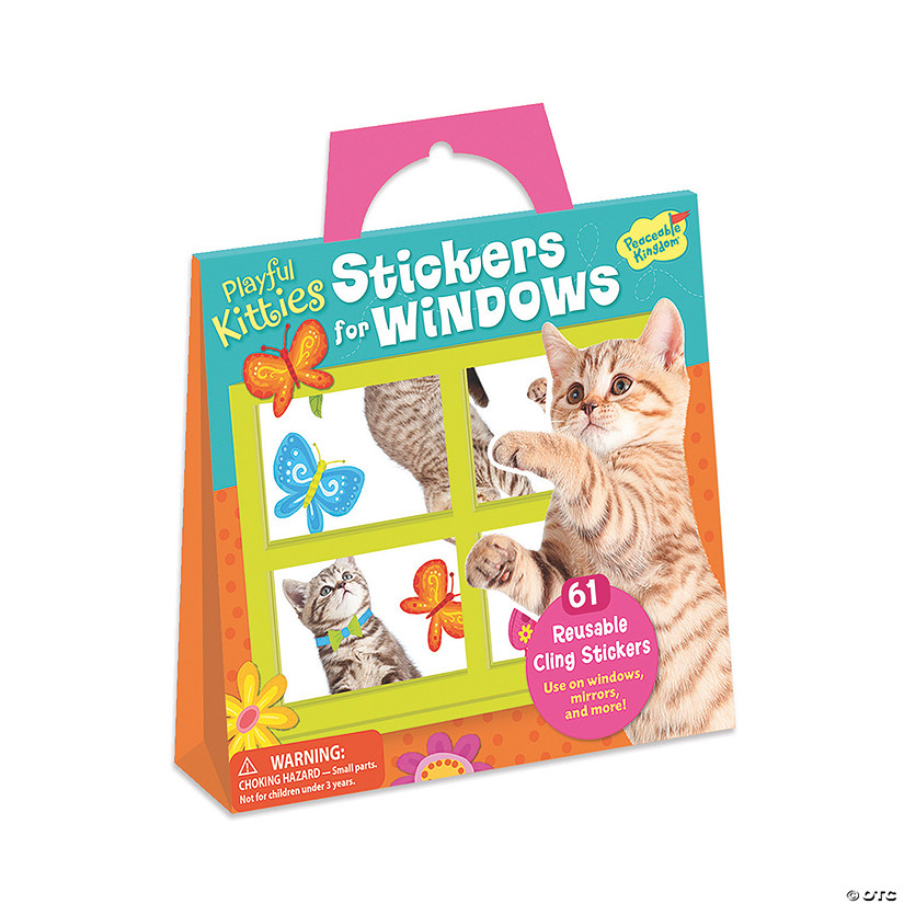 Kitty Window Reusable Sticker Tote Image Thumbnail