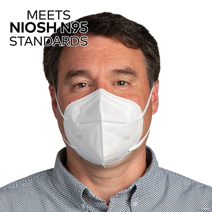 KN95 Disposable Face Masks – 20 Pc. - Meets NIOSH N95 Standards Image Thumbnail