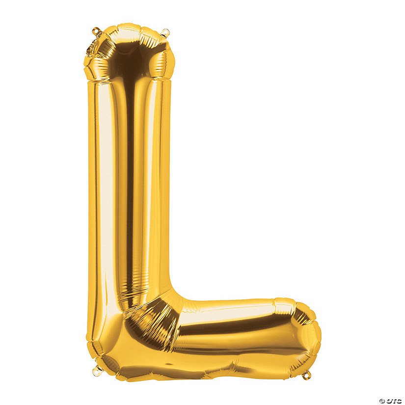 L Gold Letter Mylar Balloon Audio Thumbnail