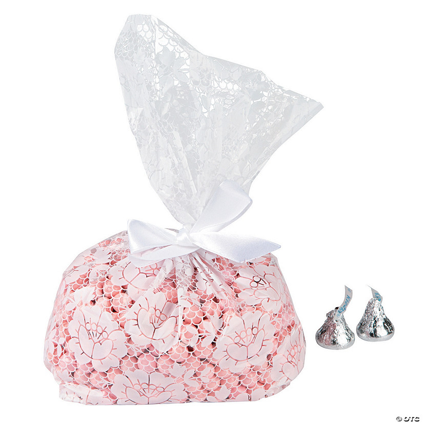 Lace Print Favor Cellophane Bags