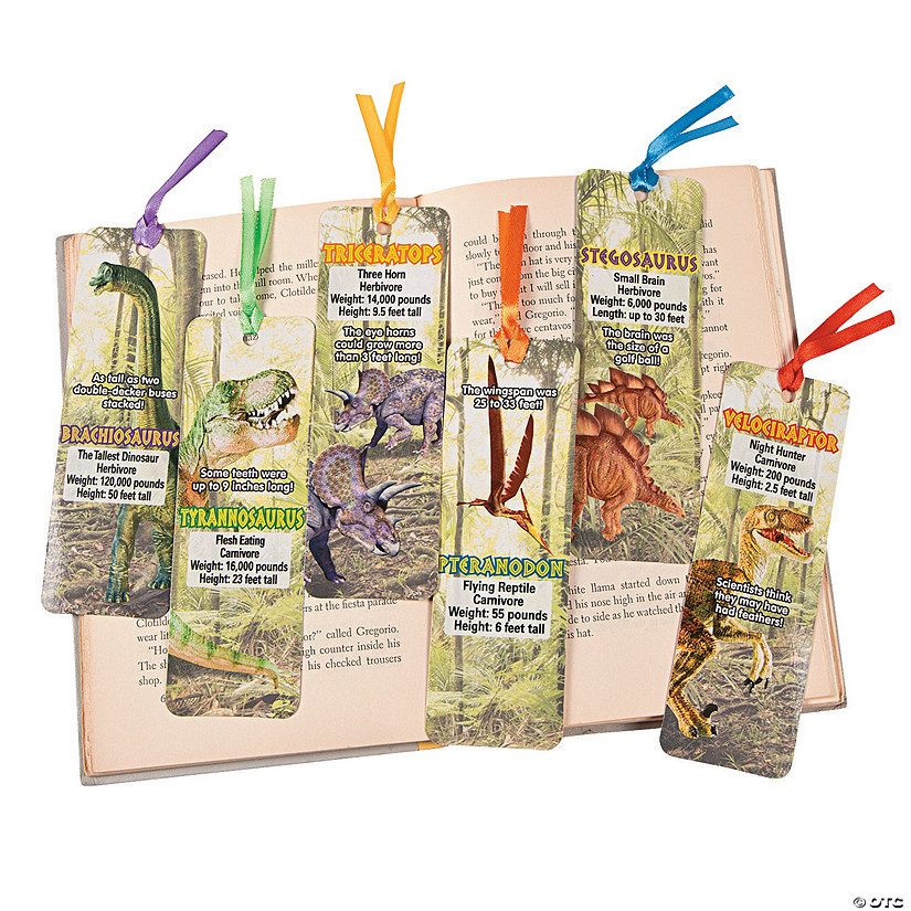 Laminated Dinosaur Bookmarks