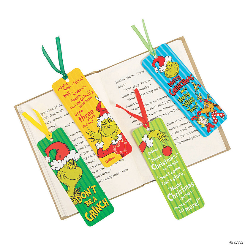 Laminated Dr Seuss™ The Grinch Bookmarks Audio Thumbnail