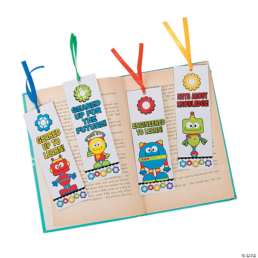 Laminated STEM Robots & Gears Bookmarks Image Thumbnail