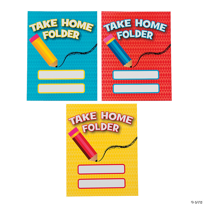 Laminated Take Home Pocket Folders