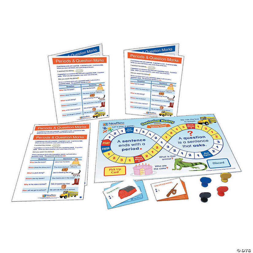 Language Arts Learning Center - Periods & Question Marks, Grades 1-2