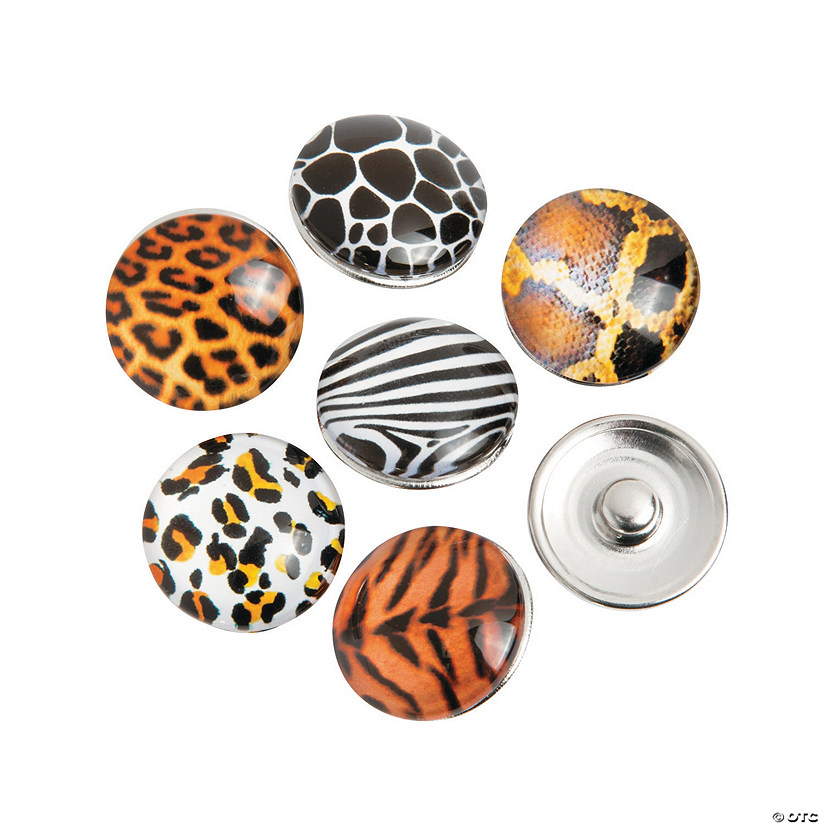 Large Animal Print Snap Beads - 17mm - Discontinued