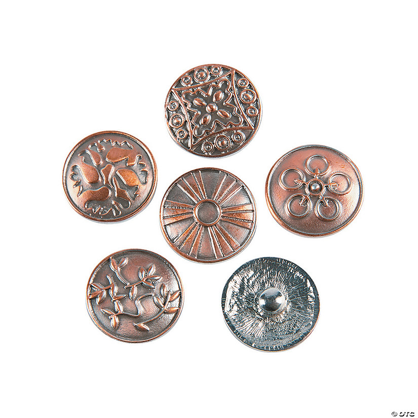 Large Antique Copper-tone Snap Beads - 20mm