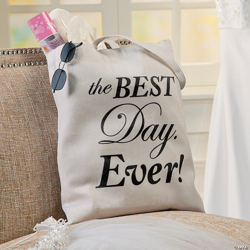 Large Best Day Ever Canvas Tote Bag Audio Thumbnail
