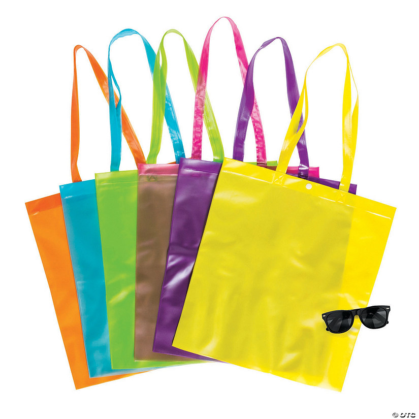 Large Bright Color Transparent Tote Bags