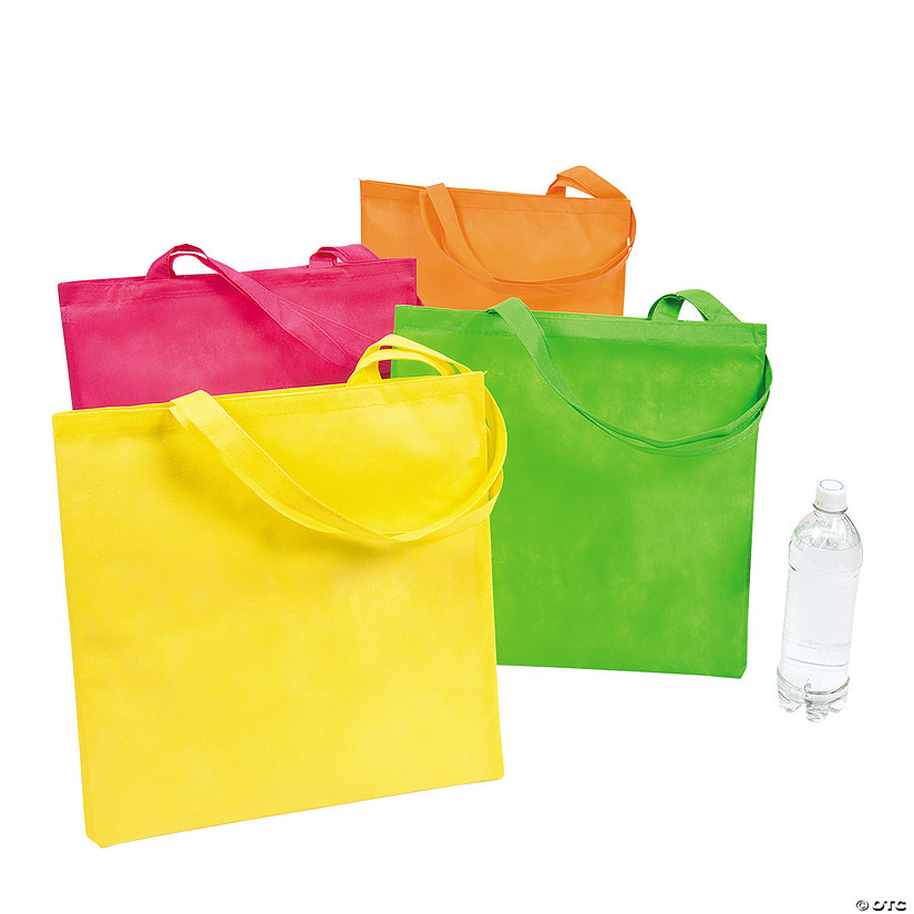 Large Bright Neon Tote Bags Image Thumbnail