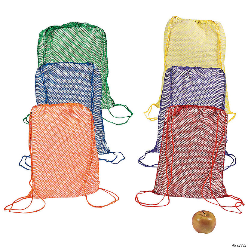 Large Bright Net Drawstring Bags Audio Thumbnail