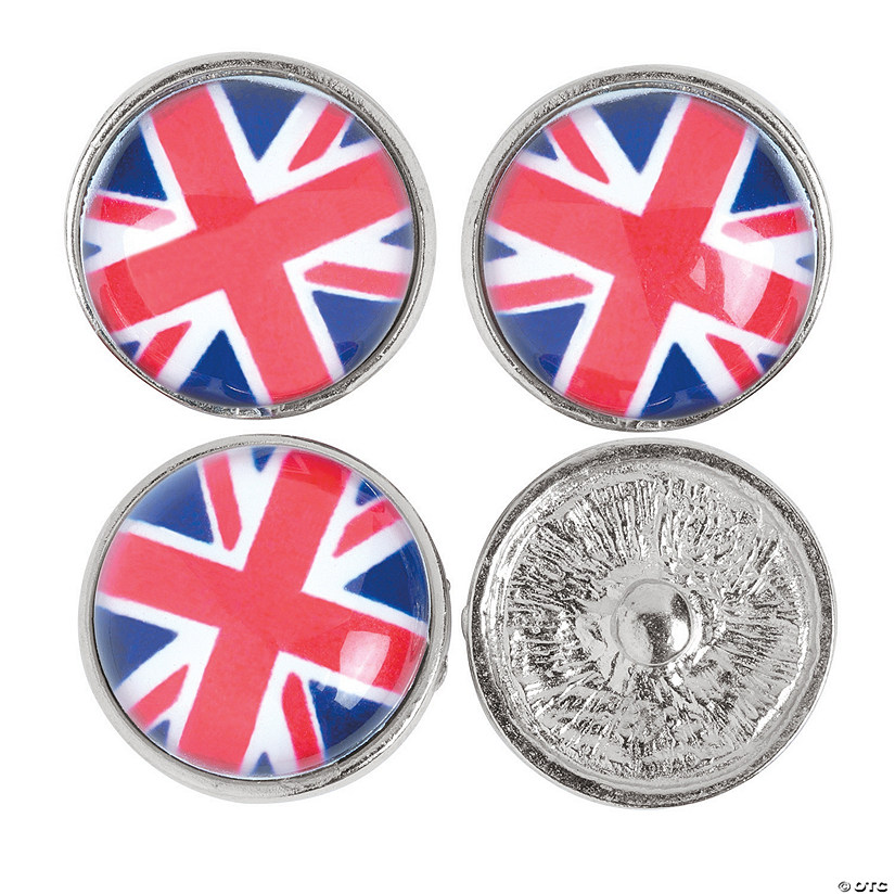 Large British Flag Snap Beads - 22mm