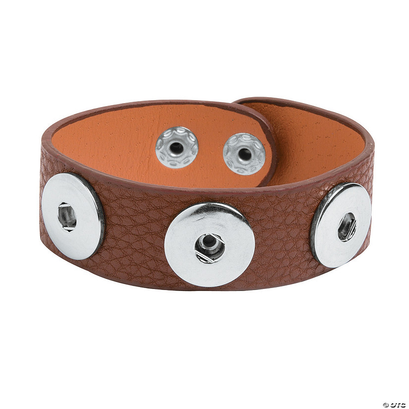 Large Brown Snap Bracelets