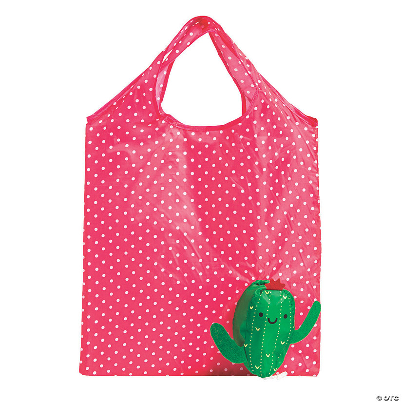 Large Cactus Foldable Tote Bags Image Thumbnail