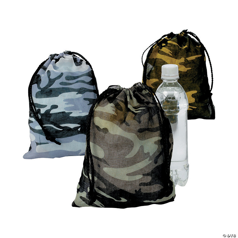 Large Camouflage Drawstring Bags Audio Thumbnail