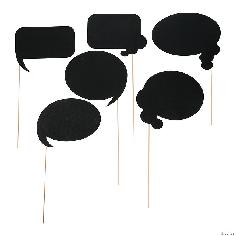 Large Chalkboard Bubble Photo Stick Props