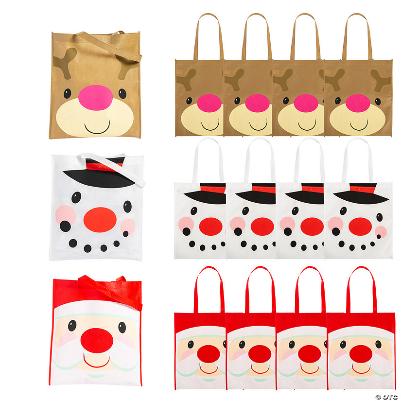 Large Cheery Christmas Tote Bags